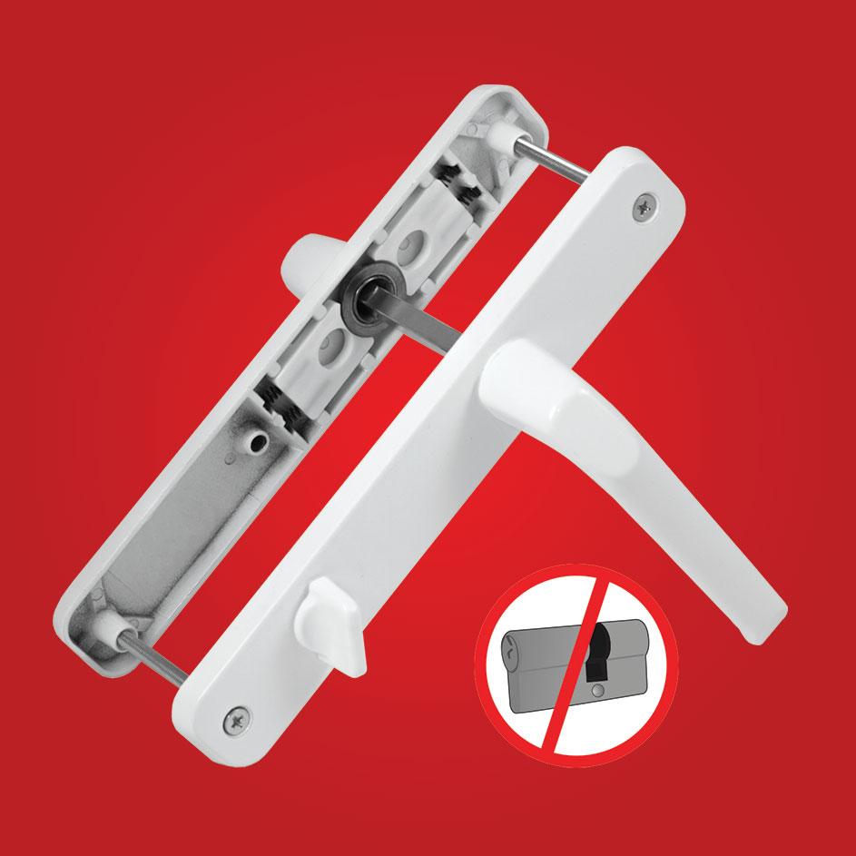 SUPER Balkon Barelsiz Kapı Kolu Yaylı 85x35 - Alüminyum