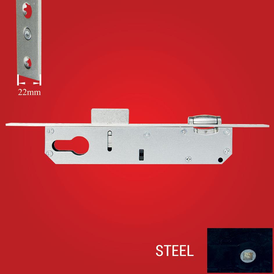 Aluminyum Makaralı Kapı Kilidi 25-85mm Çelik